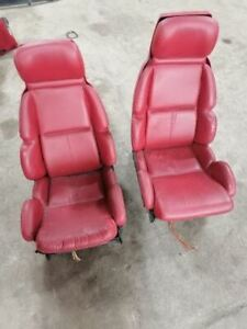 Driver Passenger Seats Red Leather Fits Corvette 1991 751529