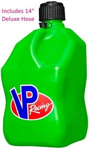 Vp Racing Motorsports Gas Fuel Container Can W 14 Deluxe Hose 5 Gallon Green