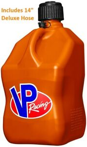 Vp Racing Motorsports Gas Fuel Container Can W 14 Deluxe Hose 5 Gallon Orange