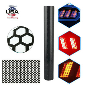 Black Car Rear Tail Light Cover Honeycomb Sticker Tail Lamp Decal Accessories Fits Bmw M