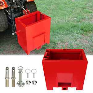 Ballast Box 3 Point Category 1 Tractor Heavy duty Loader Hitches Attachment