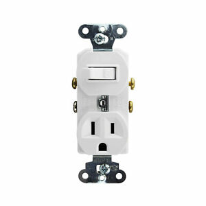 Pass Seymour 691 w Combo Switch And Receptacle Device 120v 15a White
