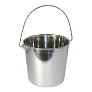 Pail Stainless Steel W Rivets Round 9 Qt