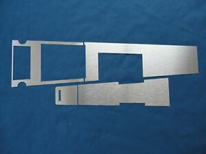 1967 Ford Mustang Aluminum Console Insert Kit Manual Transmission