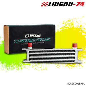 Gplus 10 Row An 10an Universal Engine Aluminum Transmission Oil Cooler Silver Us