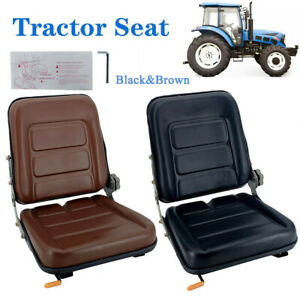 Forklift Seat Suspension Tractor Seat Adjustable Back Pvc Leather Seat 2 Option