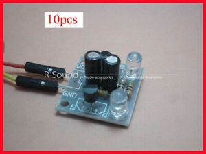 10x Transistor Multivibrator Circuit 5mm Led Flashes Kit electronic Component