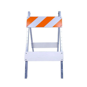 Reflective Traffic Barricade Plywood metal Type With Reflective Sheeting 8x24in