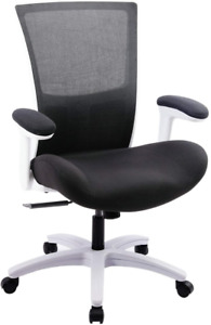 Office Ergonomic Computer Desk Mesh Chair With Flip up Arms 500 Pounds