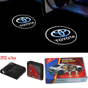For Toyota 2pcs Door Logo Light Led Laser Projector Step Courtesy Welcome Ghost