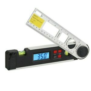 Digital Angle Protractor Spirit Level Angle Finder Gauge Meter With Level Bubble