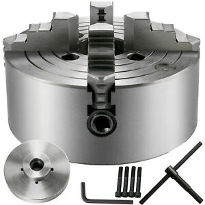 Vevor Metal Lathe Chuck 4 Jaw Independent 8 W 2 1 4 8 Adapter Semi finished