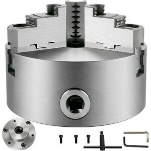 Vevor Metal Lathe Chuck 3 Jaw Self centering 6 W 1 1 2 8 Adapter Semi finished