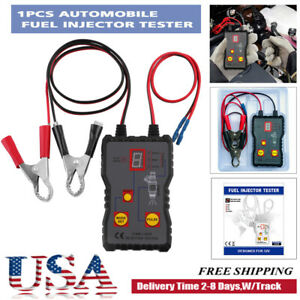 Car Fuel Injector Tester 4 Pulse Modes 12v Car Injector Cleaner Controller Tool