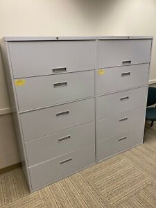 5 Drawer Lateral Size File Cabinet By Steelcase Office Furniture W lock key 36 w