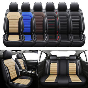 Car Seat Cover Set For 5 Seat Vehicle Full Coverage Front Rear Seat Protector