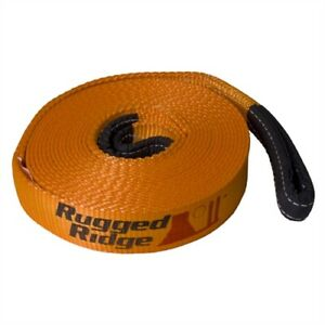 Rugged Ridge 15104 03 Recovery Strap 4 In X 30 Ft 40 000 Lb Capacity Mildew P