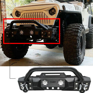 Vijay Front Bumper Fits 1997 2006 Jeep Wrangler Tj With Winch Seat