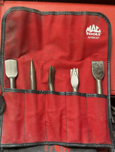 Mac Tools Air Hammer 5 Piece Chisel Set In Pouch