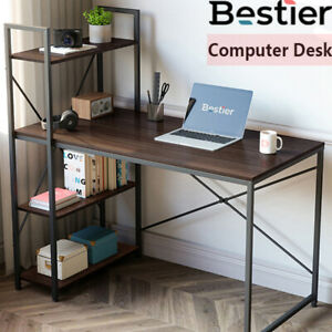 Computer Office Pc Desk Corner Table Home Study Workstation With Storage Shelves