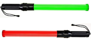 Lot Of Two 2 Pieces Traffic Safety Baton Light 21 5 Inch Length