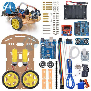 Avoidance Tracking Motor 2 Wd Smart Robot Car Chassis Speed Encoder Diy
