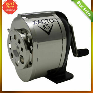 Ranger 1031 Wall Mount Manual Pencil Sharpener Silver black Dual Helical Cutters