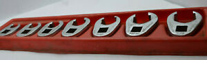 Snap On 207sfrh 7pc 3 8 Drive Sae Flare Nut Crowfoot Wrench Set 3 8 3 4