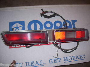 1972 Plymouth Satellite Tail Light Assembly Left 72r41 3587211 Pl66