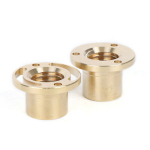 2pcs Milling Machine Y Axis Screw Copper Sleeve Brass Feed Nut Mill Tool 32mm
