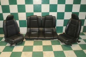05 09 Mustang Coupe Black Leather Manual Power Tracks Buckets Backseat Set Oem