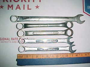 Mixed Lot Blue Point By Snap On Craftsman Box Open Wrenches Tools