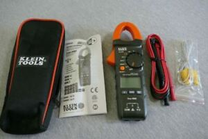 Klein Tools Cl310 Auto ranging Digital Hvac Clamp Meter W Test Leads Pouch 400a