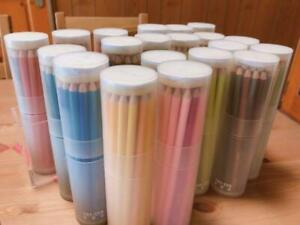Felissimo 500 Colored Pencils Collection In Cylindrical Case Limited Japan Used