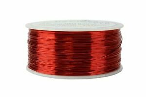 Temco 26 Awg Copper Magnet Wire 1 Lb 1258 Ft 155 c Magnetic Coil Red