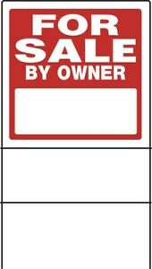 Home For Sale By Owner Sign With Frame Hillman 17 X 18 Double Sided