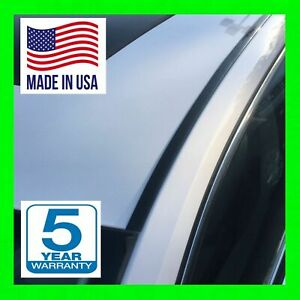 Black Roof Top Trim Molding For 2005 2015 Toyota Tacoma 2pc New 5yr Wrnty