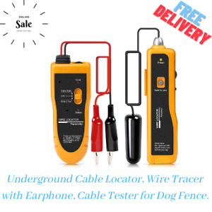 Underground Cable Locator Wire Tracer With Earphone Cable Tester For Dog Fence