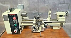 Jet 321376 Bd 920w Belt Drive Bench Lathe 9 Swing 18 Centers With Steady Rest