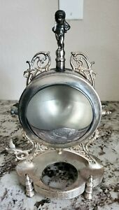 Vintage Ornate Standing Silver Plated Butter Caviar Dish