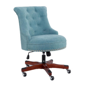 Task Chair 23 In Width Standard Brown walnut Fabric With Adjustable Height