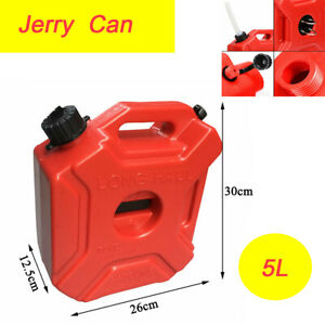 5l Portable Fuel Can Gas Diesel Petrol Fuel Tank Spare Container Atv Motorcycle