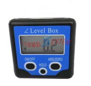 Digital Lcd Protractor Angle Finder Level Box Inclinometer Meter Magnetic