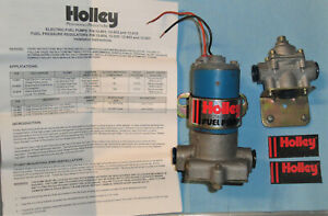 Used Holley Blue Fuel Pump 12 802 With Regulator 12 8