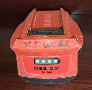 Used Hilti 5 2 Ah Cpc B22 Volt Li ion Battery Condition Good Wotking Shows Wear