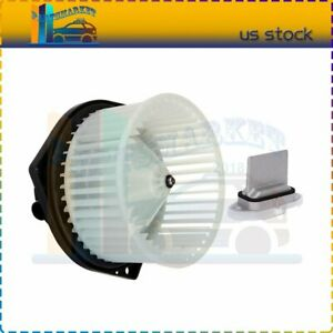 Front Blower Motor With Resistor Fit For 2000 2001 2002 2003 Nissan Maxima Kit