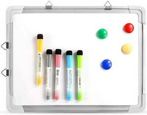 Mini Dry Erase White Board Magnetic Portable Hanging Whiteboard Easel Drawing Us
