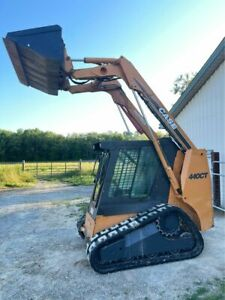 Case 440ct Skid Steer Track Loader Heat Ac Enclosed Hydraulic Coupler Nice