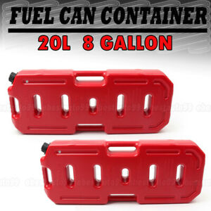 2pcs 20l 5gallon Can Emergency Backup Tank Fuel Gas Gasoline Tank For Jeep Suv