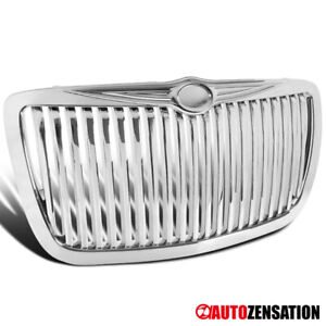 For 2004 2005 2010 Chrysler 300 300c Bentley Style Chrome Vertical Grille